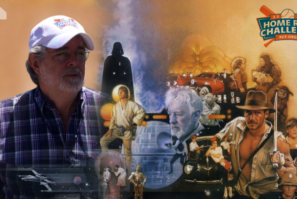 George Lucas Wears Home Run Challenge Logo Made By Mitten United