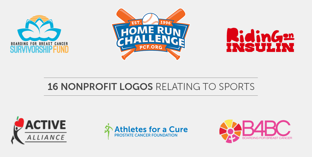 16 Nonprofit Logos Relating to Sports