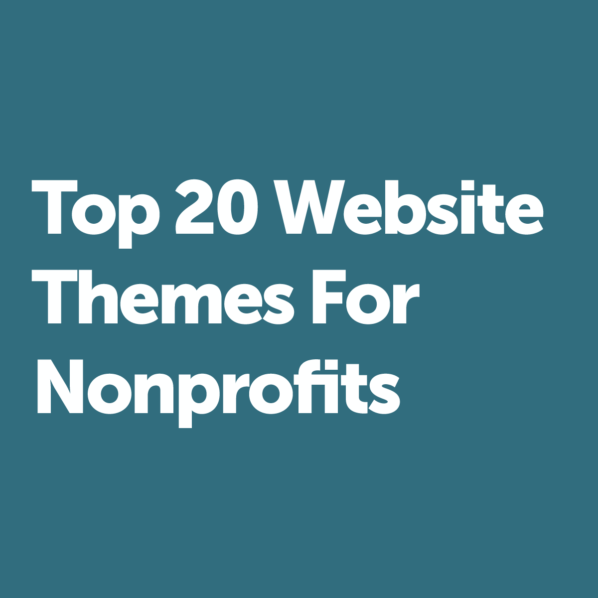 The Top 20 WordPress Themes for Nonprofits