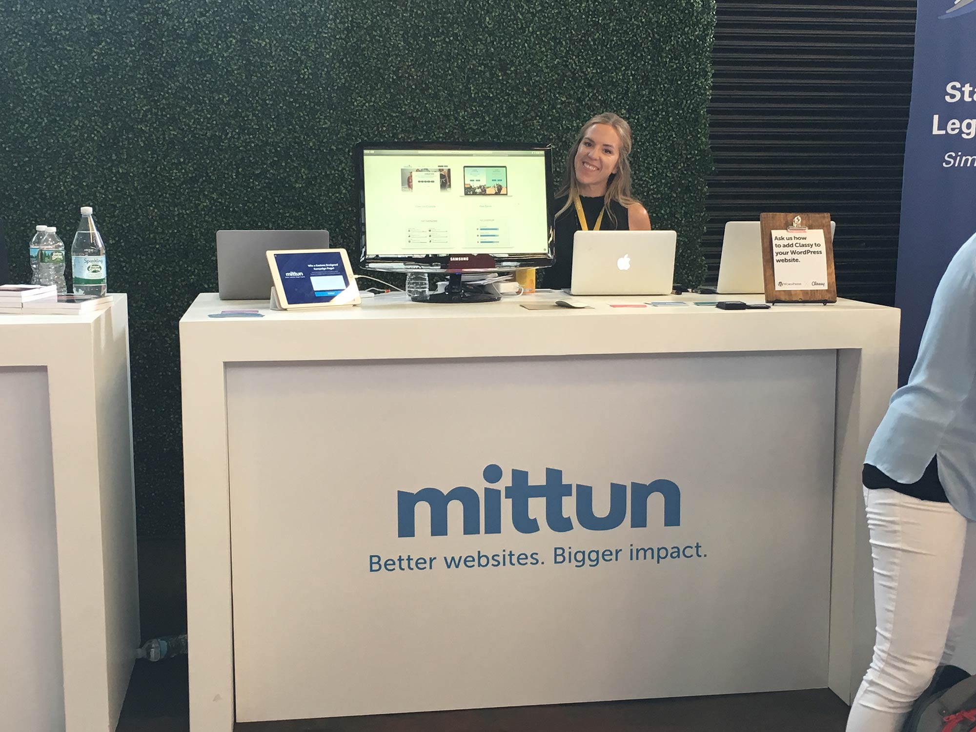 Melissa Monte at the Mittun Booth - Classy Collaborative 2017 Technology Partner