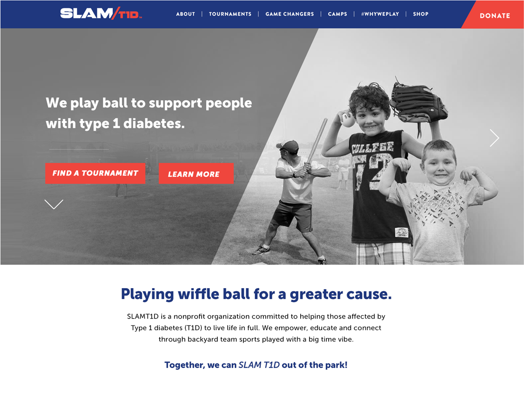 SLAMT1D Website Redesign and Refresh by Mittun Creative - Nonprofit Websites